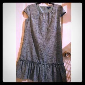 👛 Gap Size S Green Ruffle Shift Dress w/Pockets